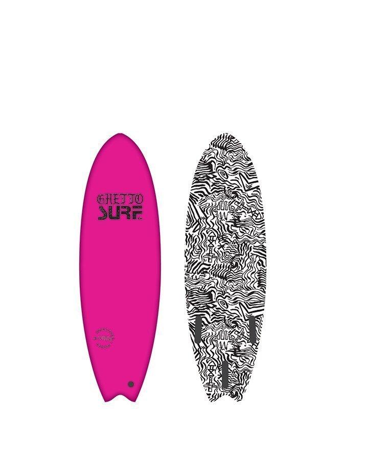 Gheto pink surfboard